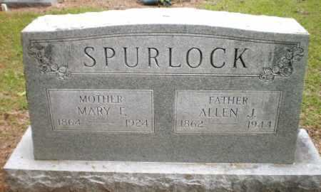 SPURLOCK, MARY F - Ashley County, Arkansas | MARY F SPURLOCK - Arkansas Gravestone Photos