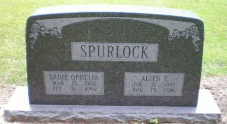 SPURLOCK, SADIE OPHELIA - Ashley County, Arkansas | SADIE OPHELIA SPURLOCK - Arkansas Gravestone Photos