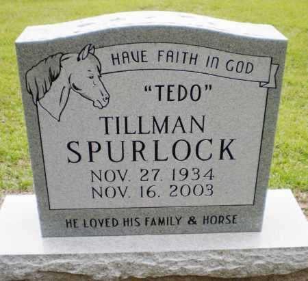 """SPURLOCK, TILLMAN """"TEDO"""" - Ashley County, Arkansas   TILLMAN """"TEDO"""" SPURLOCK - Arkansas Gravestone Photos"""