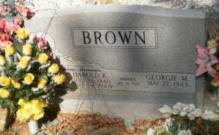 BROWN, HAROLD K - Ashley County, Arkansas | HAROLD K BROWN - Arkansas Gravestone Photos