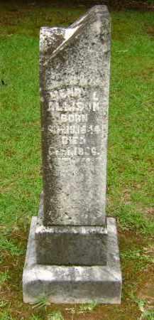 ALLISON, HENRY L - Ashley County, Arkansas | HENRY L ALLISON - Arkansas Gravestone Photos