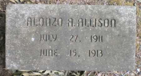 ALLISON, ALONZO A - Ashley County, Arkansas   ALONZO A ALLISON - Arkansas Gravestone Photos