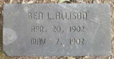 ALLISON, BEN L - Ashley County, Arkansas | BEN L ALLISON - Arkansas Gravestone Photos