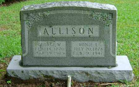 ALLISON, GEORGE W - Ashley County, Arkansas | GEORGE W ALLISON - Arkansas Gravestone Photos