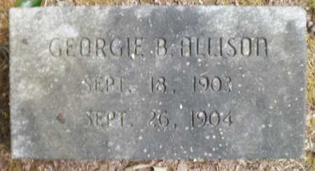 ALLISON, GEORGIE B - Ashley County, Arkansas | GEORGIE B ALLISON - Arkansas Gravestone Photos