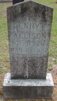 ALLISON, HENRY L - Ashley County, Arkansas   HENRY L ALLISON - Arkansas Gravestone Photos