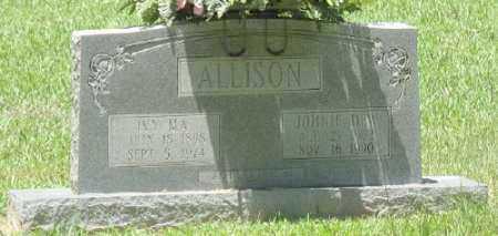 ALLISON, JOHNIE DEW - Ashley County, Arkansas | JOHNIE DEW ALLISON - Arkansas Gravestone Photos