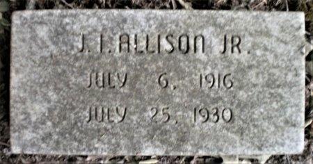ALLISON, JR., J. I. - Ashley County, Arkansas | J. I. ALLISON, JR. - Arkansas Gravestone Photos