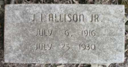 ALLISON, JR, JESS I - Ashley County, Arkansas   JESS I ALLISON, JR - Arkansas Gravestone Photos