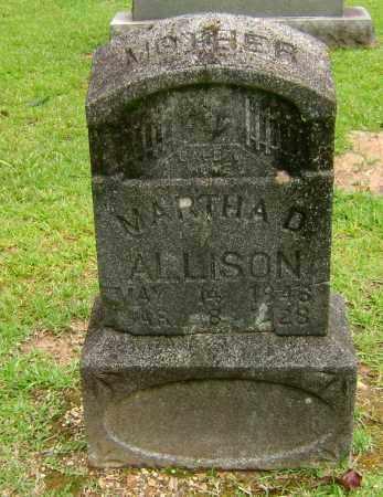 ALLISON, MARTHA D - Ashley County, Arkansas | MARTHA D ALLISON - Arkansas Gravestone Photos