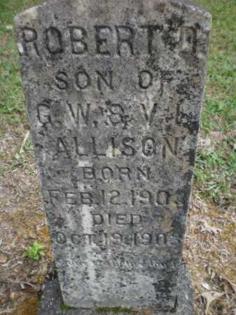 ALLISON, ROBERT D - Ashley County, Arkansas   ROBERT D ALLISON - Arkansas Gravestone Photos