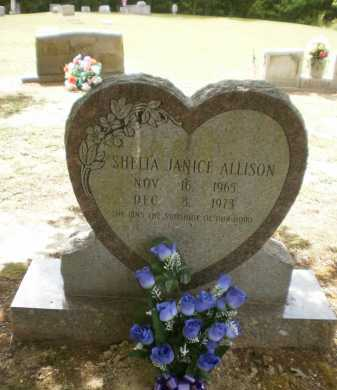 ALLISON, SHELIA JANICE - Ashley County, Arkansas | SHELIA JANICE ALLISON - Arkansas Gravestone Photos