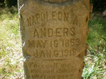 ANDERS, NAPOLEON A (CLOSE UP) - Ashley County, Arkansas | NAPOLEON A (CLOSE UP) ANDERS - Arkansas Gravestone Photos