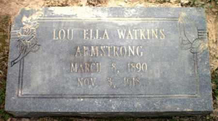 WATKINS ARMSTRONG, LOU ELLA - Ashley County, Arkansas | LOU ELLA WATKINS ARMSTRONG - Arkansas Gravestone Photos