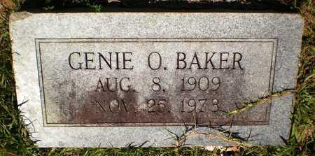 BAKER, GENIE O - Ashley County, Arkansas   GENIE O BAKER - Arkansas Gravestone Photos