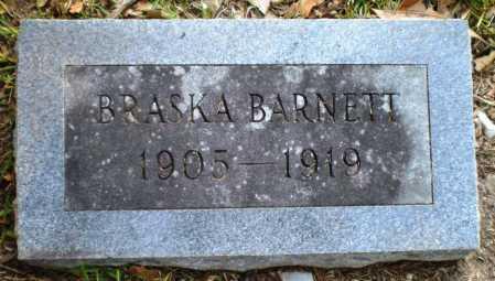 BARNETT, BRASKA - Ashley County, Arkansas   BRASKA BARNETT - Arkansas Gravestone Photos