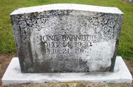 BARNETT, IONE - Ashley County, Arkansas   IONE BARNETT - Arkansas Gravestone Photos