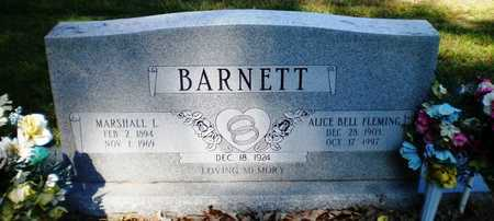 BARNETT, MARSHALL L - Ashley County, Arkansas | MARSHALL L BARNETT - Arkansas Gravestone Photos