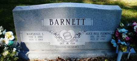 FLEMING BARNETT, ALICE BELL - Ashley County, Arkansas | ALICE BELL FLEMING BARNETT - Arkansas Gravestone Photos