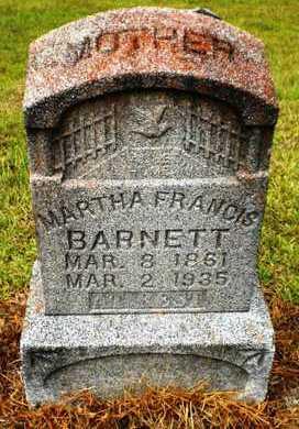BARNETT, MARTHA FRANCIS - Ashley County, Arkansas | MARTHA FRANCIS BARNETT - Arkansas Gravestone Photos