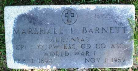 BARNETT (VETERAN WWI), MARSHALL L - Ashley County, Arkansas   MARSHALL L BARNETT (VETERAN WWI) - Arkansas Gravestone Photos