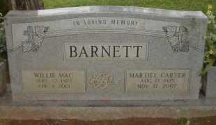 BARNETT, WILLIE MAC - Ashley County, Arkansas | WILLIE MAC BARNETT - Arkansas Gravestone Photos
