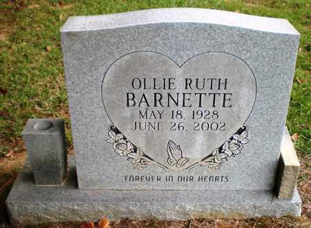 BARNETTE, OLLIE RUTH - Ashley County, Arkansas | OLLIE RUTH BARNETTE - Arkansas Gravestone Photos