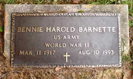 BARNETTE (VETERAN WWII), BENNIE HAROLD - Ashley County, Arkansas | BENNIE HAROLD BARNETTE (VETERAN WWII) - Arkansas Gravestone Photos