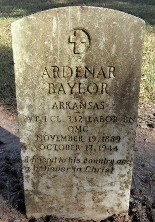 BAYLOR (VETERAN WWI), ARDENAR - Ashley County, Arkansas | ARDENAR BAYLOR (VETERAN WWI) - Arkansas Gravestone Photos