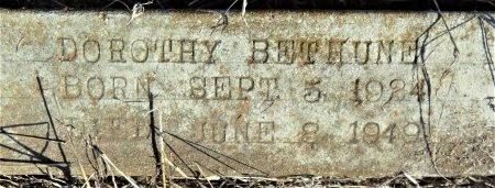BETHUNE, DOROTHY (CLOSE UP) - Ashley County, Arkansas | DOROTHY (CLOSE UP) BETHUNE - Arkansas Gravestone Photos
