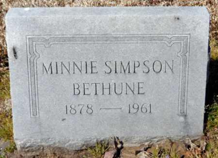 BETHUNE, MINNIE - Ashley County, Arkansas   MINNIE BETHUNE - Arkansas Gravestone Photos