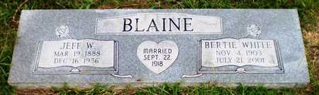 BLAINE, JEFF W - Ashley County, Arkansas | JEFF W BLAINE - Arkansas Gravestone Photos