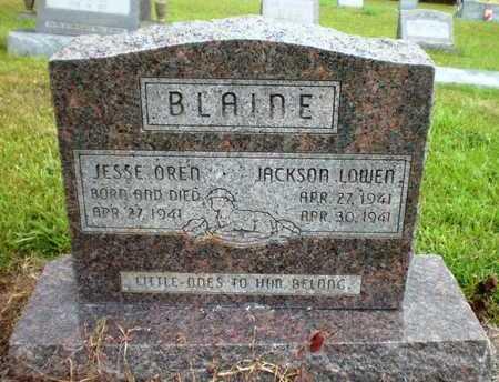 BLAINE, JACKSON LOWEN - Ashley County, Arkansas | JACKSON LOWEN BLAINE - Arkansas Gravestone Photos