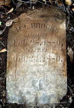 BROOKS, H L - Ashley County, Arkansas | H L BROOKS - Arkansas Gravestone Photos