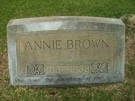 BROWN, ANNIE - Ashley County, Arkansas | ANNIE BROWN - Arkansas Gravestone Photos
