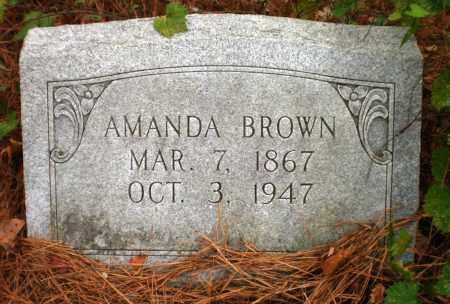 BROWN, AMANDA - Ashley County, Arkansas | AMANDA BROWN - Arkansas Gravestone Photos