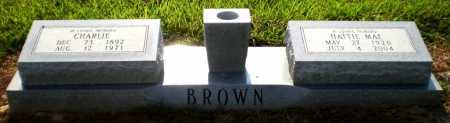 BROWN, CHARLIE - Ashley County, Arkansas | CHARLIE BROWN - Arkansas Gravestone Photos