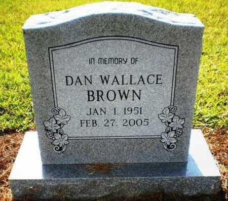 BROWN, DAN WALLACE (OBIT) - Ashley County, Arkansas | DAN WALLACE (OBIT) BROWN - Arkansas Gravestone Photos