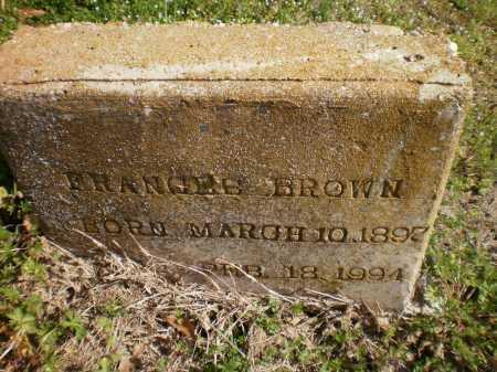 BROWN, FRANCES - Ashley County, Arkansas | FRANCES BROWN - Arkansas Gravestone Photos