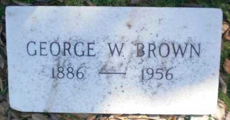 BROWN, GEORGE W - Ashley County, Arkansas | GEORGE W BROWN - Arkansas Gravestone Photos
