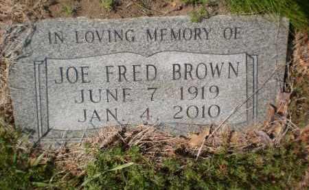 BROWN, JOE FRED - Ashley County, Arkansas   JOE FRED BROWN - Arkansas Gravestone Photos