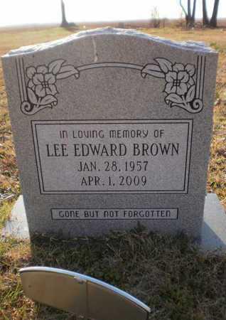 BROWN, LEE EDWARD - Ashley County, Arkansas | LEE EDWARD BROWN - Arkansas Gravestone Photos