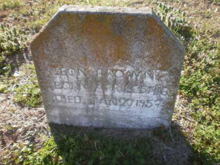 BROWN, LEON - Ashley County, Arkansas   LEON BROWN - Arkansas Gravestone Photos