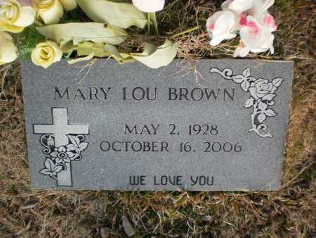 BROWN, MARY LOU - Ashley County, Arkansas | MARY LOU BROWN - Arkansas Gravestone Photos