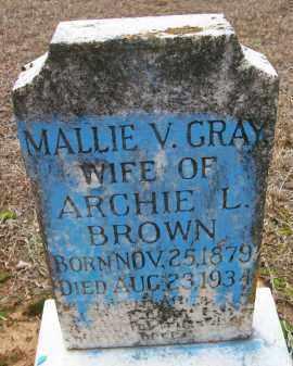 GRAY BROWN, MALLIE V - Ashley County, Arkansas | MALLIE V GRAY BROWN - Arkansas Gravestone Photos