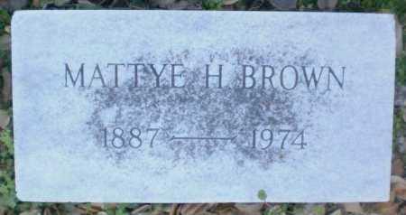 BROWN, MATTYE`H - Ashley County, Arkansas | MATTYE`H BROWN - Arkansas Gravestone Photos