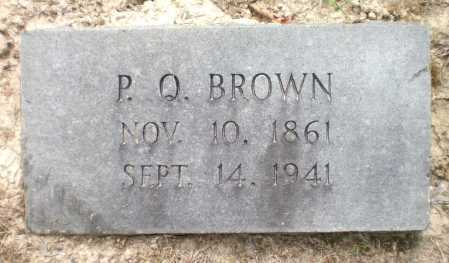 BROWN, P Q - Ashley County, Arkansas | P Q BROWN - Arkansas Gravestone Photos