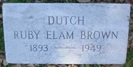 "BROWN, RUBY ""DUTCH"" - Ashley County, Arkansas   RUBY ""DUTCH"" BROWN - Arkansas Gravestone Photos"