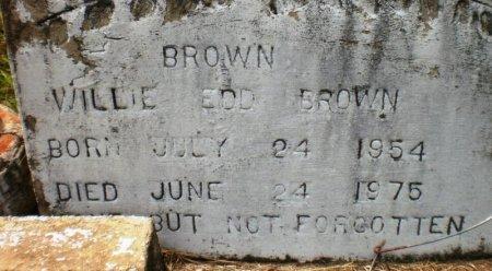 BROWN, WILLIE EDD - Ashley County, Arkansas | WILLIE EDD BROWN - Arkansas Gravestone Photos