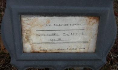 RUCKER BURKLEY, ANNIE LEE - Ashley County, Arkansas | ANNIE LEE RUCKER BURKLEY - Arkansas Gravestone Photos